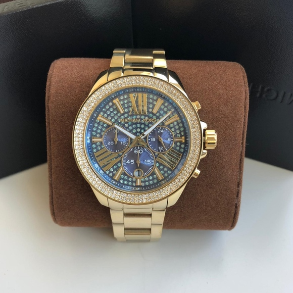 e0dcd5f90b6b BRAND NEW Michael Kors Gold Blue Dial Watch MK6291